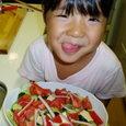 初めて作ったサラダ
